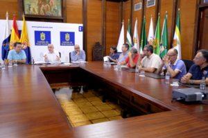 Las Palmas de Gran Canaria. 11/10/16.  El presidente del Cabildo de Gran Canaria, Antonio Morales presidió esta tarde la reunión del Grupo de Acción contra el Cambio Climático.